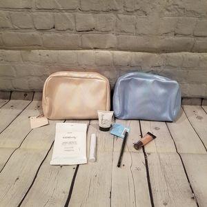 ULTA iridescent makeup bag and samples